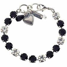 247e7aa8e Mariana Checkmate Tennis Bracelet, Silver Plated Black Clear Swarovksi  Crystal