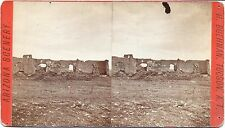 Henry Buehman Stereoview of Unknown Building Ruins in Arizona c1880-90s