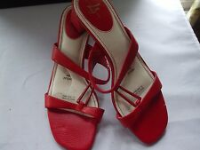 Life Stride Red Faux Snake Slip On Sandals size 8M