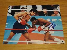 Boxing HOFers AARON PRYOR (d. 2016) & ALEXIS ARGUELLO (d. 2009) signed Photo COA