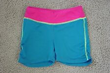 Girl's Blue & Fuschia Stretch Athletic Shorts by BCG – Size M (8/10)