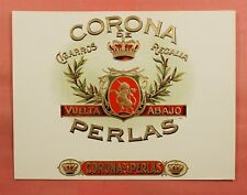 VINTAGE CIGAR LABEL CORONA PERLAS UNICORN L76996