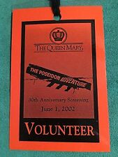 The Poseidon Adventure 30th Anniv Queen Mary Screening 2002 Volunteer Lanyard
