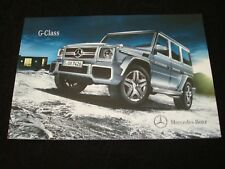 Mercedes-Benz G-Class FOLLETO VENTAS GB DEC. 2011 NUEVO,Viejo Stock G 350