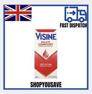 VISINE RED EYE COMFORT (ORIGINAL) EYE DROPS 15ml FASTPOST - ✅✅🚚🚚