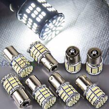 8 x White Ba15s 1156 85 SMD LED Car Rear Turn Signal Super Bright Light Bulb 12V