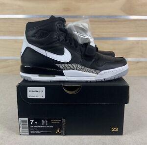 Nike Air Jordan Legacy 312 GS Black White Cement Gray Shoes Sz 7Y  (AT4040-001)