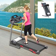 Elektrisch Laufband mit Motor LCD Display Heimtrainer Fitnessgerät MP3 1300W