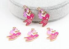 New 20pcs mermaid princess pink Metal Charms DIY Jewelry Making Pendants Earring
