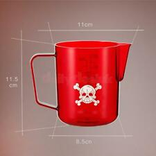 Creamer Frothing Pitcher Red for Art Milk Coffe Flowers Cappuccino Latte Red