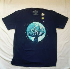 BNWT Harry Potter Lootcrate  Whomping Willow Glow In Dark T-Shirt blue new