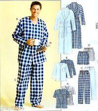 BRAND NEW Plus Size 46-52 Mens Pajamas & Robe Uncut Sewing Pattern McCall's 4244