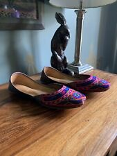 Hand Made Moroccan Ballet Pump / Slippers /Mules Size 6 Leather Boho