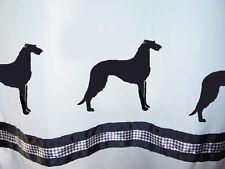 Scottish Deerhound Dog Shower Curtain White with black SALE