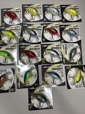 New listing Lot of 17 Arashi Fishing Lures - / Square 3 / Square 5 silent rattling e2