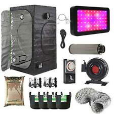 Complete 600w LED Grow Tent Kit Carbon Filter 80x80x180cm Grow Tent + FREE TIMER