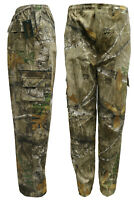 Mens Realtree Forest Camouflage Cargo Trousers Hunting Jungle Camo M-2XL