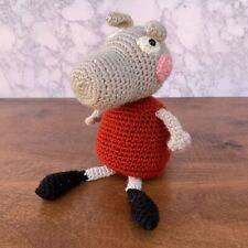 Handmade Crochet Peppa Pig Stuffed Animal Toy