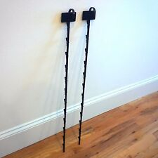 Lot of 2 Black Hanging Merchandise Clipping Display with Scan label plate