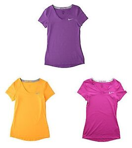 Nike Pro Womens Dri Fit Fitted Training Running Athletic Shirt 589370
