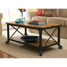 Rustic Coffee Table Restoration Industrial Vintage Look and Hardware SHIPS FREE