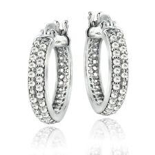 Sterling Silver 0.50 CTTW Natural Diamond Hoop Earrings