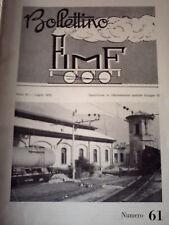 Bollettino FIMF 61 1972 Distribuzione locomotive vapore