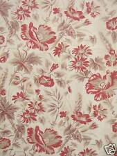 Antique French fabric madder printed timeless floral textile ONE of set