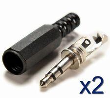 2x Connecteur prise Audio Stereo 3,5mm Jack à souder /Jack connector plug solder