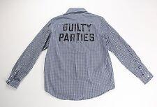 WACKO MARIA GUILTY PARTIES Mens Cotton Blue Check Shirt Size Medium $396 Japan