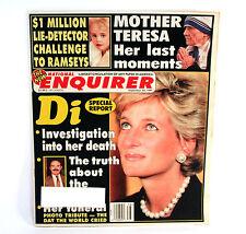 September 23, 1997 National Enquirer Princess Diana Special Report Photo Tribute