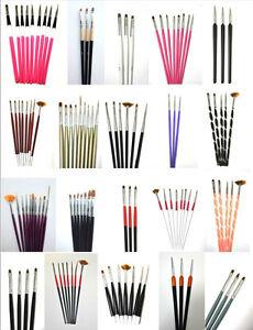 Große PINSEL Auswahl für UV GEL &  ACRYL & NAIL ART workshops STUDIO SET  NEU !
