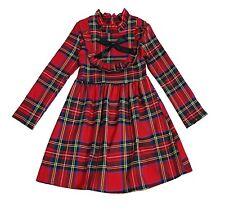 Toddler Girls Kid Bow Tartan Check Matching Sisters Christmas Dress Outfits 2-12