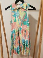 INDIE by INDUSTRIE - Cute retro / vintage style flared dress - Size 14 - Pastel