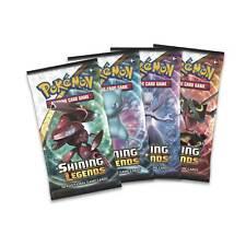Pokemon Shining Legends Booster Packs x4 - One of each artwork