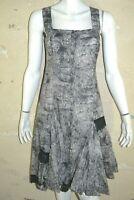 MAIS IL EST OU LE SOLEIL ? Taille 38 Superbe robe marron gris dress kleid