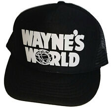 Wayne's World Halloween Costume Snapback Mesh Trucker Hat Cap Garth  90's