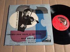 """MAX BRUCH / MENUHIN / MUNCH - CONCERTO POUR VIOLON ET ORCHESTRA - 10""""-LP"""