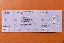 Foghat Ticket 1997 Final Lonesome Dave Tour San Juan Capistrano Ex Cond Nazareth