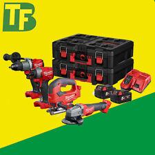 Milwaukee Fuel M18FPP4K2 4 piece Brushless 18V Kit Combi, Impact, Grinder,Jigsaw