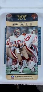 Joe Montana Super Bowl XVI Collector Ticket Plate Bradford Exchange New in Box