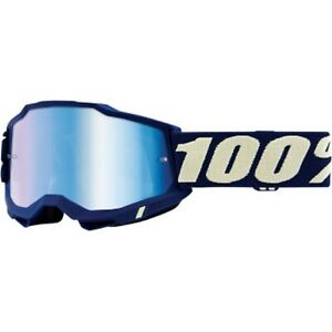 100% ACCURI GEN 2 MEN'S DIRT MX OFFROAD GOGGLE MARINE WITH BLUE MIRROR