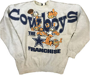 Vintage Dallas Cowboys Garfield sweater Size XL 1994 Paws Made In USA