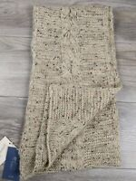 New Universal Thread Women's Knit Oblong Winter Scarf  - Oatmeal One Size