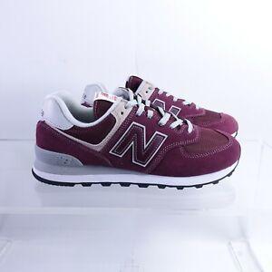 Size 9.5 Men's New Balance 574 Sneakers ML574EGB Burgundy