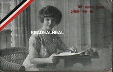GERMAN WORLD WAR I (Sweetheart at Home) Real Photo, 1916 Postcard *RARE*