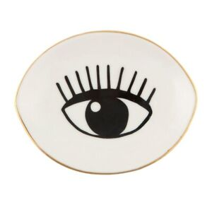 New Sass & Belle Limited Edition Eyes On You White Trinket Dish Jewellery Holder