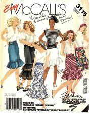 McCall's Sewing Pattern Women's SKIRTS 3175 Fashion Basics Medium UNCUT