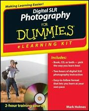 Digital SLR Photography eLearning Kit For Dummies by Holmes, Mark in Used - Ver