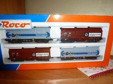 Roco HO,  1 Set Coiltransportwagen, Haubenwagen der DB/ VTG,  44042 ,neu,